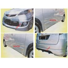 Perodua Alza Aerotech Full Set Skirting Body Kit Front+Side+Rear Skirt
