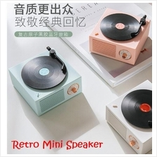 Wireless Bluetooth Speaker Atomic Vinyl Retro Mini Classic Speaker