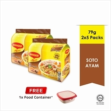 MAGGI 2-MINN Soto Ayam , Buy 2 Free 1 Food Container)