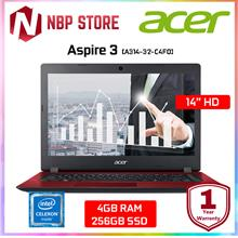 "Acer Aspire 3 A314-32-C4F0 14 "" Laptop Oxidant Red"