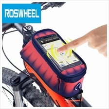 ROSWHEEL 4.8 INCH TOUCH SCREEN BICYCLE FRONT TUBE PHONE BAG HOLDER HANDLEBAR P
