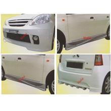 Perodua Viva Front + Rear Bumper + Side Skirt Body Kit