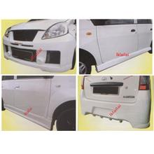 Perodua Viva EVO 9 Front + Rear Bumper + Side Skirt Body Kit