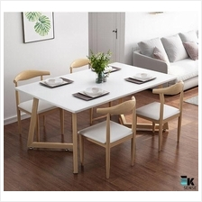 Nordic Modern Rectangular Dining Table and Chairs (1 month pre-order)