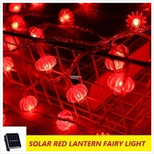 22M 200 LED Solar Red CNY Lantern String Light Chinese New Year Decor