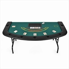 [Free shipping]Giantex Folding Play Poker Table w/Cup Holder