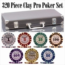 [Free shipping]320 Piece Pro Poker Clay Poker Set