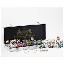 [Free shipping]Premium 500 Piece Poker Chip Set with Aluminum Carrying
