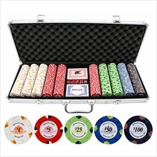 [Free shipping]JPC 13.5g 500pc Monaco Casino Clay Poker Chips Set