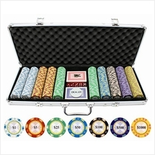 [Free shipping]JP Commerce 500 Piece Monte Carlo Clay Poker Chips Set