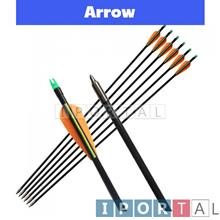 Fiberglass Archery Arrow Fixed Point Compound / Recurve Bow Anak Panah