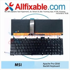 MSI Apache GE60 2OC 2OD GP60 2QF Leopard Pro Laptop Backilt Keyboard