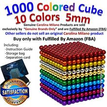[USA]1000 p 5mm 10 Color balls Multicolored Large cube Building Blocks