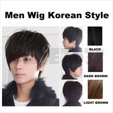 Korean Style Men Man Guy Short Full Wigs Wig Cosplay Party Hair 1558.1