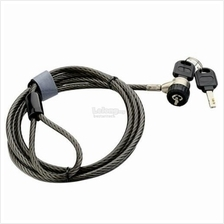 Anti Theft Laptop/ Notebook key lock with 6mm thick cable