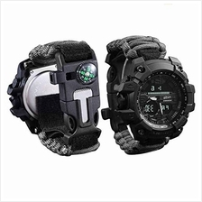 [From USA]wejie Survival Bracelet Watch Men and Women Digital Outdoor Sports W