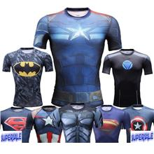 Marvel's Avengers Gym Fitness Stretch Compression Sport Men's T-Shirt