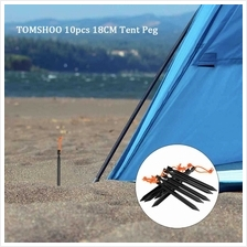 "TOMSHOO 10pcs/lot 18CM/7 "" V-shape Tent Peg Camping Ultra-light Tent Stak"