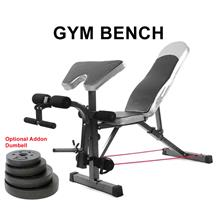 Gym Fitness Sit Up Dumbbell Bicep Leg Curl + Table Chair (Bench Only)
