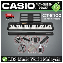 Casio CT-S100 61 Key Casiotone Electric Keyboard Intermediate Package