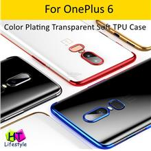 OnePlus 6,1+6 Color ElectroPlating Transparent Soft TPU Case