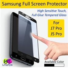 Samsung J7 Pro,J5 Pro Premium Tempered Glass Full Screen Protector