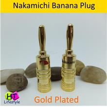 Nakamichi Gold Plated Banana Plug Speakers Connector ( 2pcs/Set )