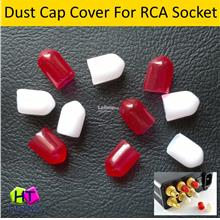 Plastic RCA Dust Cap Cover For RCA Socket ( 5 pcs Red + 5 pcs White )
