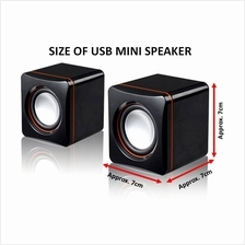 USB Computer Speakers Stereo 3.5mm Jack For Desktop PC Laptop IPhone IPad MP3