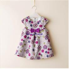 Flower Pattern Baby Girl Fashion Sleeveless Cute Dinner Dress