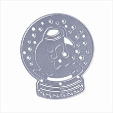 MOON PATTERN METAL DIY CUTTING DIE STENCIL (SILVER)