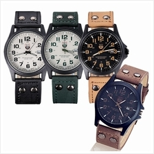 Japan Style SK4 Soki Military Calendar Leather Strap Watch