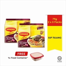 MAGGI 2-MINN Sup Tulang , Buy 2 Free 1 Food Container)