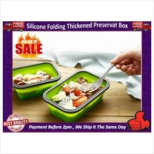Silicone Square Fresh-keeping Box Microwave Bento Box Portable Retract