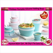 Folding Silicone Microwave Oven Heating Bowl Water Cup