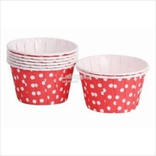 50 Red Polka Dot Cake Cupcake Cases Muffin Cups