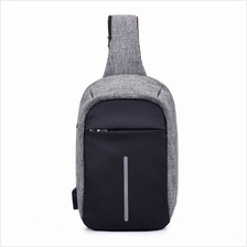 USB Charging Bag Sling Bag Pack Shoulder Chest Cross Body Backpack Daypack Bik