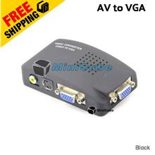AV to VGA Converter Video TV to PC Signal Adapter Switch Box