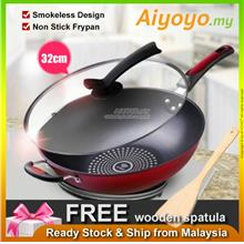 Korean 32cm Non Stick Frying Pan Wok Pot Pan Frypan Cooking Nonstick Kitchen C