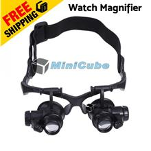 10X 15X 20X 25X LED Glasses Jeweler Magnifier Watch Repair Magnifying