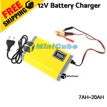 12V 2A Auto Smart Battery Charger For Motorcycle / Car Battery