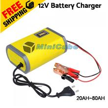 12V 6A Car Battery Motorcycle Smart Charger for 20AH - 80AH