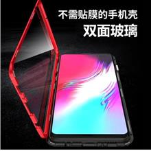 Samsung Galaxy A7 A9 2018 double full tempered glass case casing cover