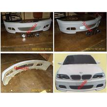 BMW E46 '98-05 SMG Front Bumper with Fog Lamp Set [Fiber]