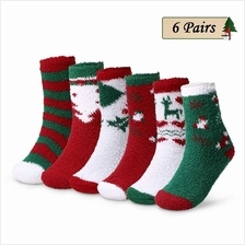6 Pairs Christmas Holiday Socks Adults Winter Cozy Socks Patterned Hig
