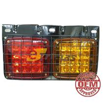 32LED Hino Fuso Trailer Truck Lorry Car Rear LED Chrome Tail Light Lamp (1PC)