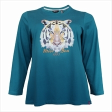 MISS YOU PLUS SIZE LADIES ROUND NECK LONG SLEEVE WITH PRINTING MY300020 (TURQU