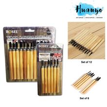 Bosei Wood Carving Chisels Knife Tool Craft Set (Set of 6 and 12)