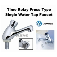 Time Delay Automatic Press Self Closing Water Tap Basin Faucet 2213.1