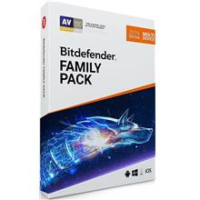 Bitdefender Family Pack 2021 - 1 Year 15 PC Device Windows Mac IOS